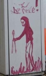 Graffiti nahe Oderstrasse