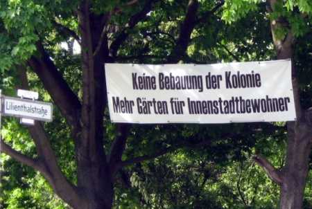Protest der Kolonie am Columbiadamm