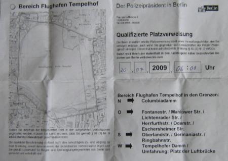 Platzverweis am THF