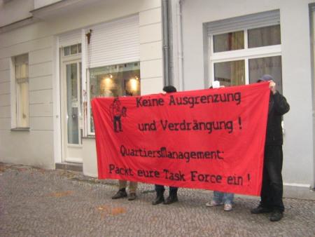 Protest vor QM-Büro am 3.11.2009