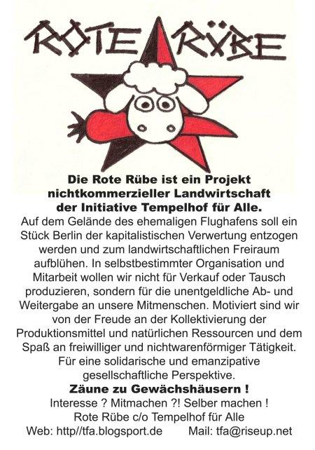 Das Projekt Rote Rübe