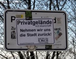 Privatgelände wird abgeschafft