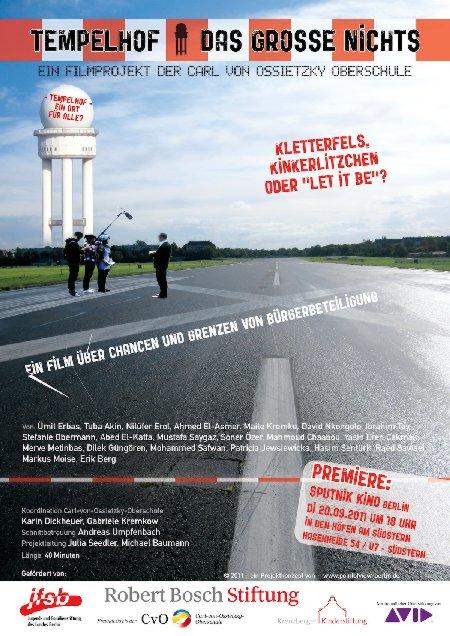 Filmplakat Tempelhof - das grosse Nichts