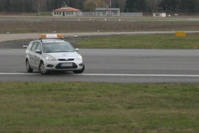 Wachschutz auf dem Ex-Flughafen